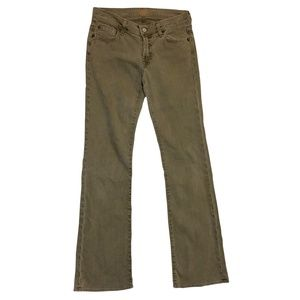 7FAM NWOT Grey Army Green Bootcut Jeans 00750470